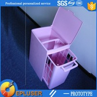 plastic prototypes dustbin product high precision 3d printing