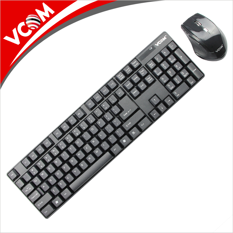 VCOM Factory High Quality Slim Mouse and Keyboard Combos Ultra-Thin 2.4GHz Arabic Wireless Keyboards for Laptop Computer PC