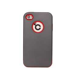 New arrival red and gray color hybrid armor cell phone cover for iPhone 4 4s