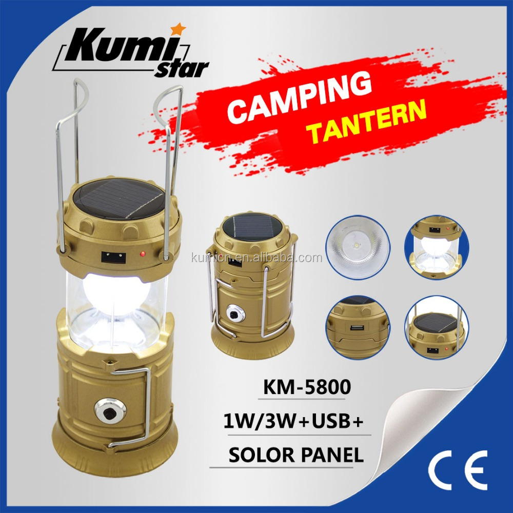 powerful new rechargeable folding camping solar led lantern KM-5800