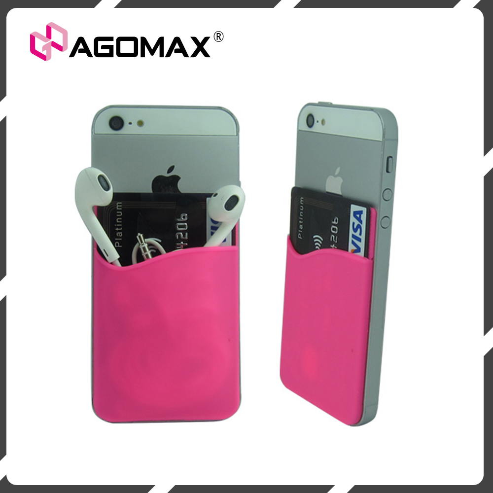 Personalized 3m sticker silicone mobile phone smart wallet