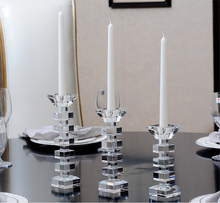 crystal pillar candle holders crystal cut glass candle holder