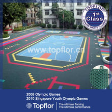 Modular Suspended Flooring PP Basketball Interlocking Sports Flooring