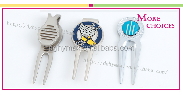 custom blank design portable silver golf divot tool