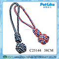 Soft T-Shirt Rope Ball With Hanld Mix Color Dog Chewing Ball Toy