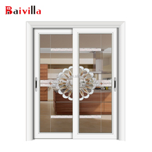 Factory direct sell interior glass doors with tempered unbreakable glass door