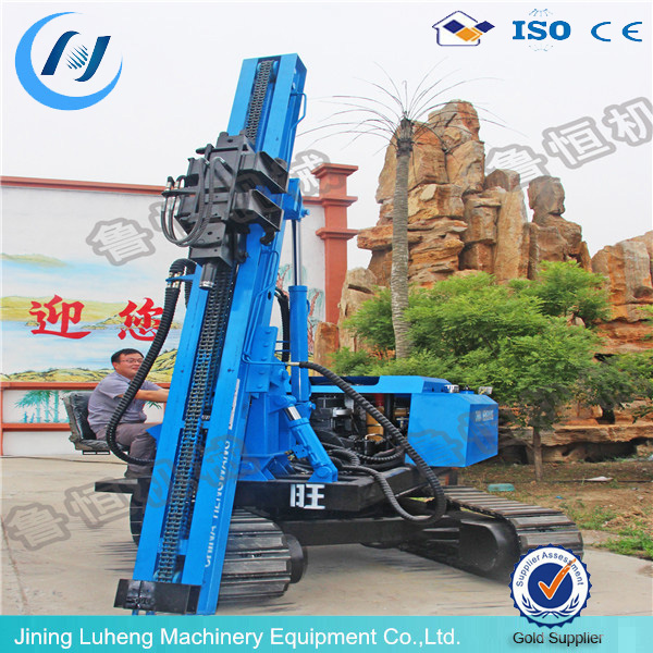 hydraulic jack-in piling earth auger solar ground hole piling machine - LUHENG