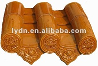 China antique glazed house roofing material-eaves tile