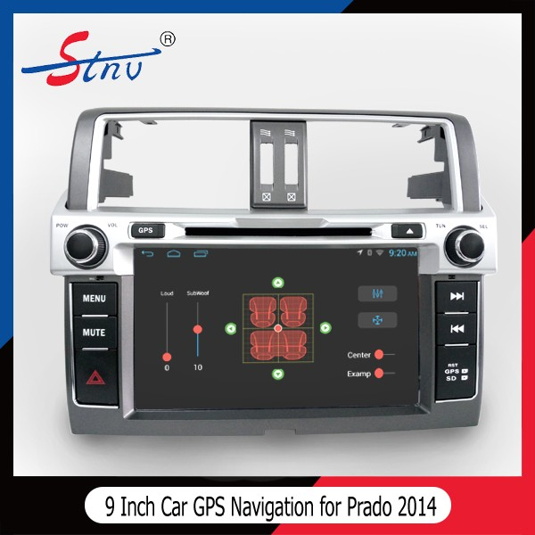 Android 4.4.4 gps navigation for Toyota Prado 2014 with DVD Player in dash