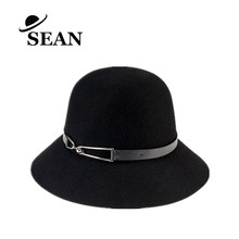 100% Wool Felt Cloche Hats which is Foldable with Fashion Metal Trim