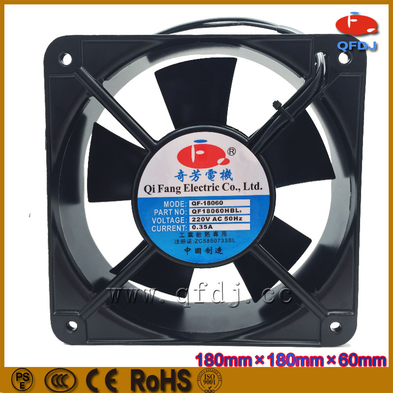 18060 axial fan 220v cabinet ventilation 180*180*60mm high speed axial cooling fan dossy