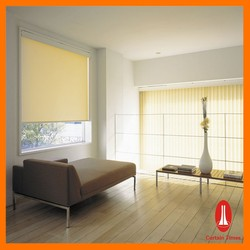 Curtain times window motorized rolling curtain with side tracks for colorful curtain blinds