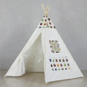 New design Kids Cotton Canvas kids set camping tent toy