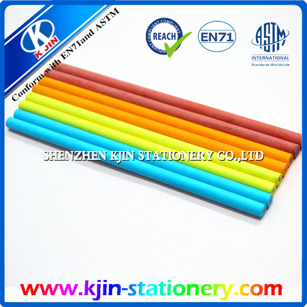 5 colors 7 inches cylindrical paper rolled promotion pencil without sharpening