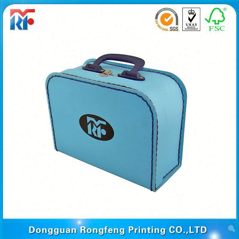toy packing cardboard suitcase shaped gift box