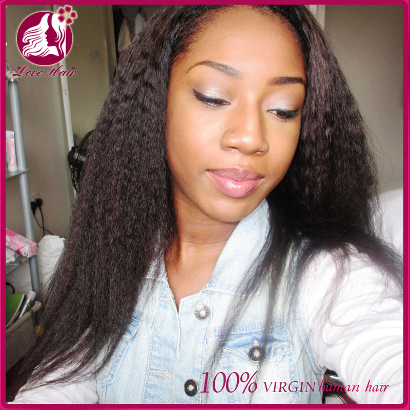 Top Quality Kinky Straight Curly Malaysian Hair Lace Front Wig Human Hair Full Lace Virgin Wig For Black Women On Sale