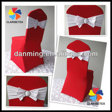 2013 New Style Fuchsia Lycra Chair Cover With New Spandex Bow