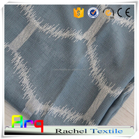 fancy latest embroidery sheer curtain geometry design- 15% blackout- best for seascape room