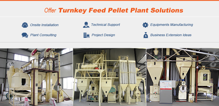 1 ton per hour turnkey business plan small poultry animal feed pellet processing plant project uses feed pellet production line