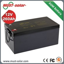 Factory Supplier 4Ah to 260Ah Solar 12v Battery Price