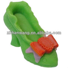 H0219 Flexible silicone soap moulds high heeled shoes
