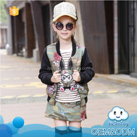 Wholesale 2016 new baby clothes china supplier branded children winter suit printed little girls boutique clothing sets