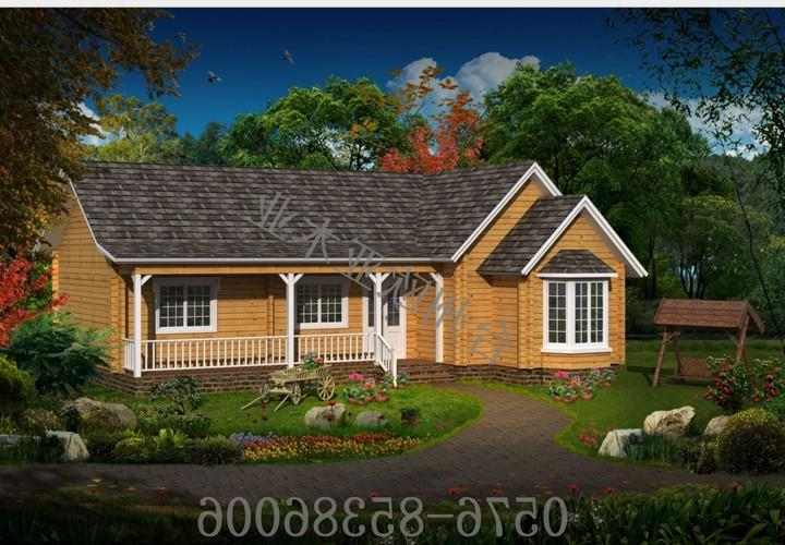 High quality prefab log cabin/prefab kit homes/prefab house knock down wooden house for sale