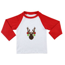latest shirts for children design pictures tops custom winter printing christmas shirts