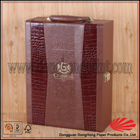 Hot press stand leather wine case special design leather wine box