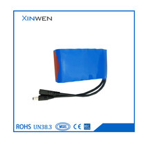 11.1V 4P3S 10400mAh 18650 lithium ion battery
