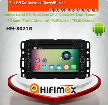 HIFIMAX Android 5.1.1car radio for GMC Acadia 2007-2012 dvd gps navigation system car multimedia player
