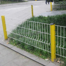 Cheap PVC Coated Welded Metal Wire Garden Fence Panel