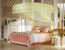 Yellow types of mosquito nets for canopy beds