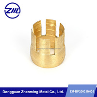 Metal parts of furniture cnc machine with brass material china factory supply