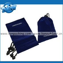 Wholesale custom printed drawstring velvet jewelry pouch gift bags