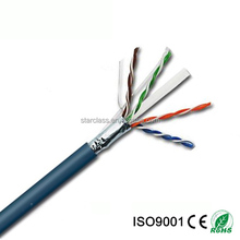 China Wires and Cables HDPE Insulated 1000ft/Box Structured Cabling CMR rated UTP Cat6 bulk Lan Cable