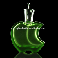 50ml 100ml fancy design fruit red green apple shape perfume bottle empty perfume bottle glass parfum bottle with cap pump logo