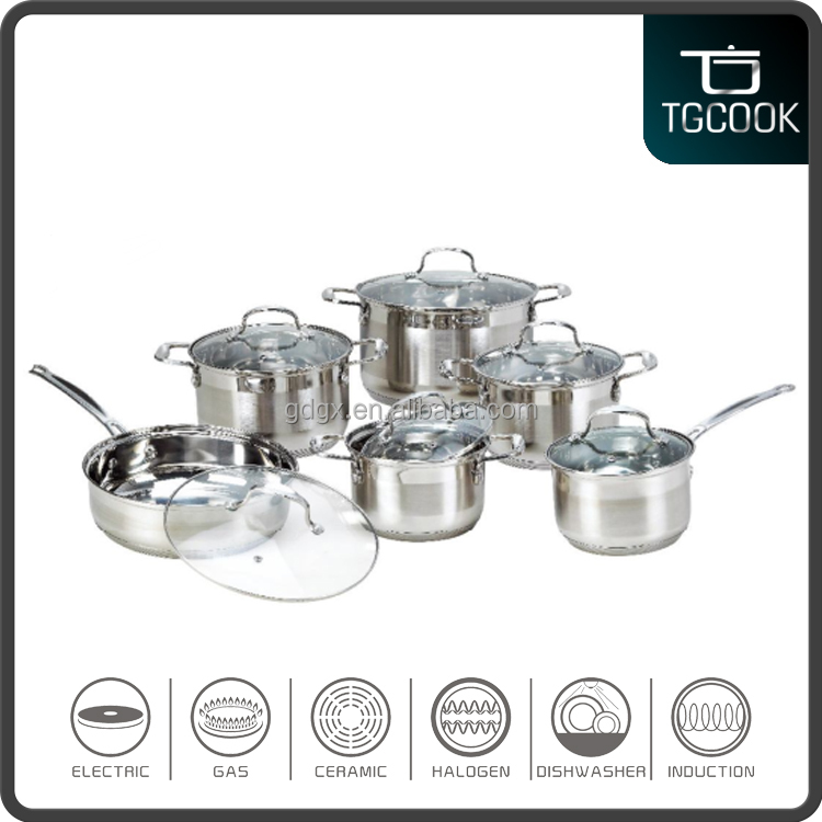 Professional 12pcs Stainless Steel insulated casserole cookware