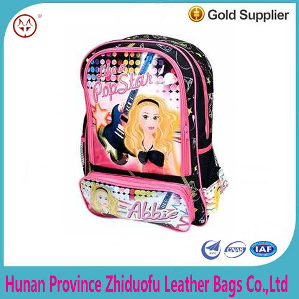 2016 Children's Backpack School Back hot Girl;Kindergarten back pack to school