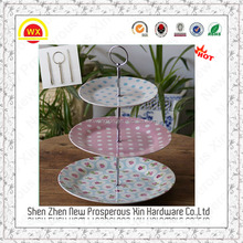 wholesale antique metal 2-layer cake stand