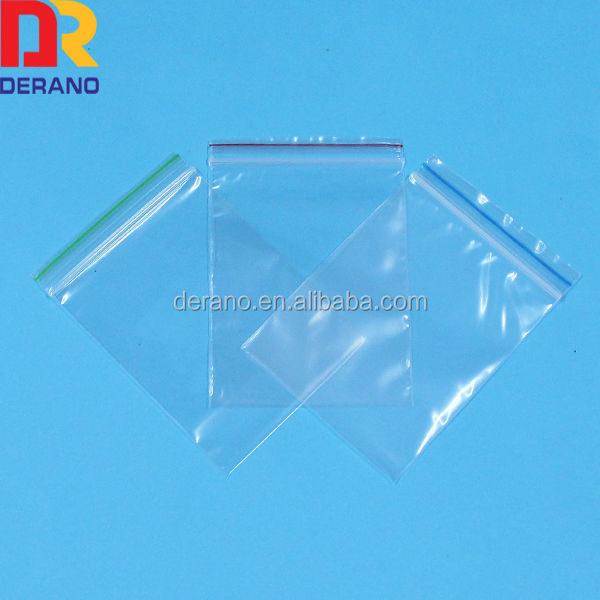 Resealable small pe plastic bag