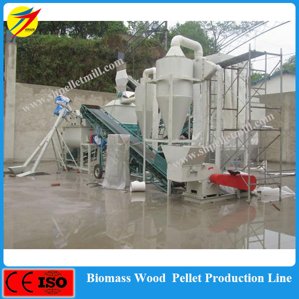 High quality waste wood biomass straw pellet production