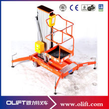 10m trailing aluminum alloy single mast lift