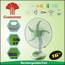 strong power 5 speed 18 inch battery operated table fan