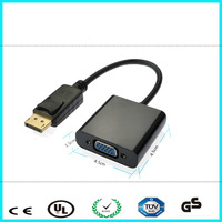 High quality DisplayPort male to VGA female adapter dp to VGA cable for Projector Monitor