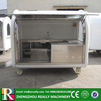 2m width food and beverages kiosk vending food trailers push food cart