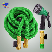 Amazon best seller Tall Top 2017 Expandable Garden Hose 100 Feet with 8 Spray Pattern Nozzle and triple layer latex
