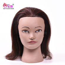 18 inch Long Blonde Hair Mannequin Head With Gifts Salon Female training Head Hairstyles Cosmetology Hairdressing