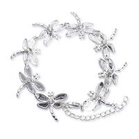 Factory direct sale 925 sterling silver jewelry Bracelet 8 Dragonfly silver jewelry