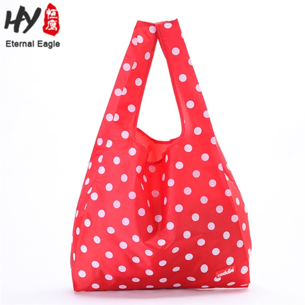 Environmentally friendly reusable waterproof folding shopping bags